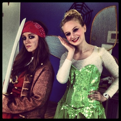 Emily teacher and I: Tinkerbelle and Captain Jack Sparrow
